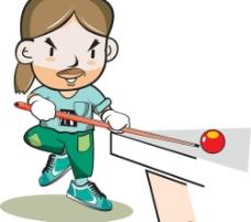 卡通台球运动员图片