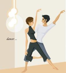 卡通人物舞蹈图片