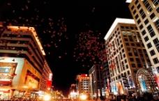 王府井大街夜景圖片