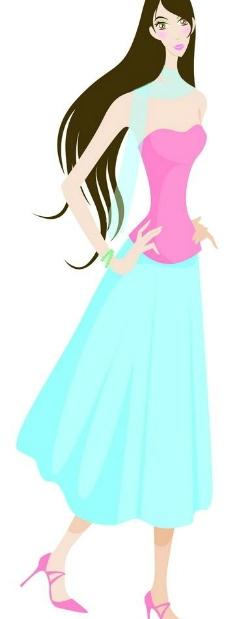 穿裙子高跟鞋的美女图片图片