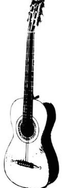 吉他黑白图片