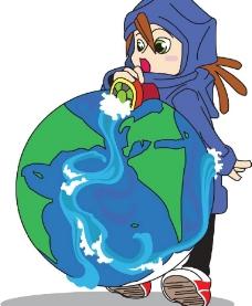 地球气候漫画图片