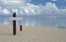 海滩指示牌图片
