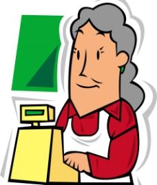 超市服务员图片