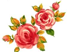 花卉水彩画图片