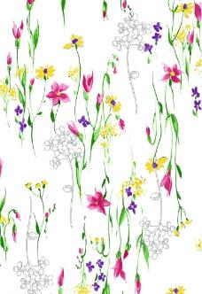 花朵彩畫圖片