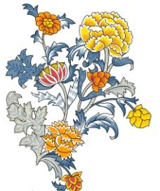 精美韓國花卉PSD素材圖片