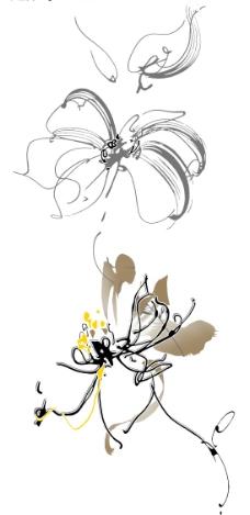 韩国花纹素材图片