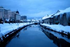 冬天的街景图片