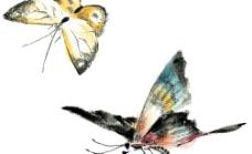 水墨风格的蝴蝶图片