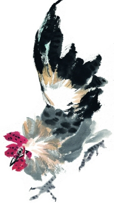 水墨风格的鸡图片