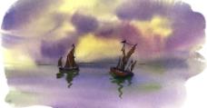 水彩-风景图片