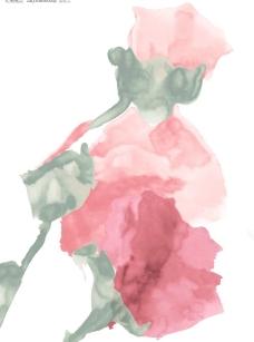 玫瑰花的写意画图片