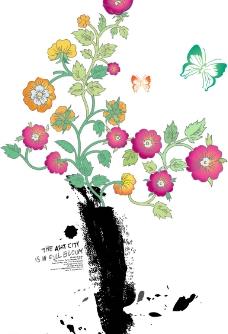 时尚矢量花朵7图片